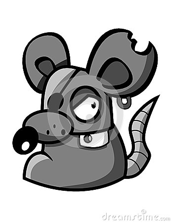 Cartoon gray mouse