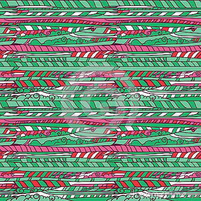 Cartoon Green and pink cloud pattern