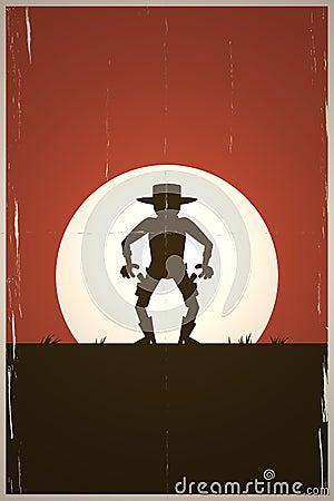 Cartoon gunslinger