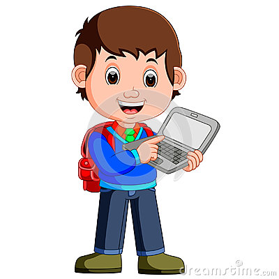 Free Cartoon Guy With Tablet And Notebook Royalty Free Stock Images - 97837569