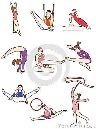 Cartoon Gymnast icon