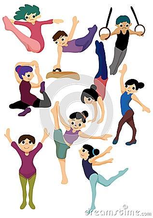 Cartoon gymnastic icon