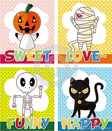 Cartoon Halloween card