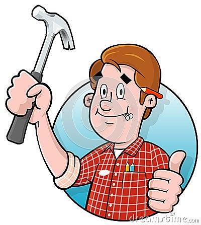Free Cartoon Handyman Logo Stock Images - 18208594