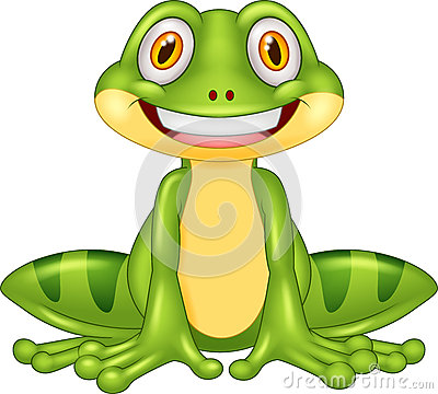 Cartoon happy frog Vector Illustration