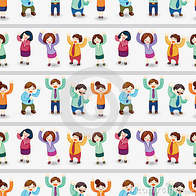 Free Cartoon Happy Office Workers  Seamless Pattern Royalty Free Stock Photo - 22504815