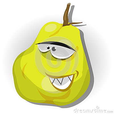 Cartoon Happy Quince Character