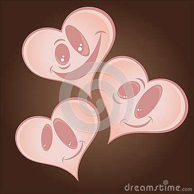 Cartoon hearts