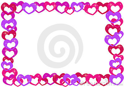 Cartoon hearts frame