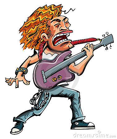 Cartoon of a heavy metal singer