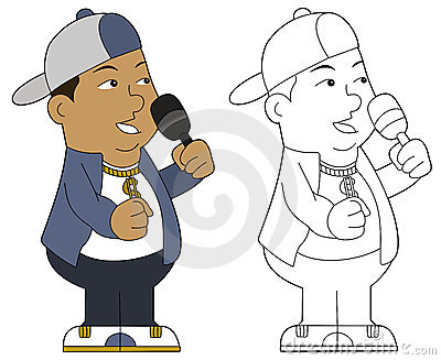 Cartoon hip hop guy