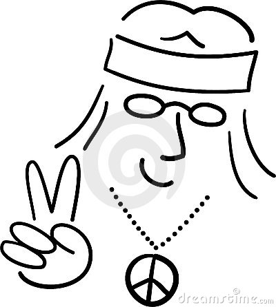 Cartoon Hippie Peace Dude/ai
