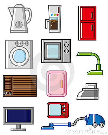 Cartoon Home Appliances Icon Stock Images Image 17784814