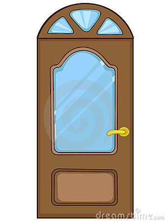 Cartoon Front Door Royalty Free Stock Photography Image