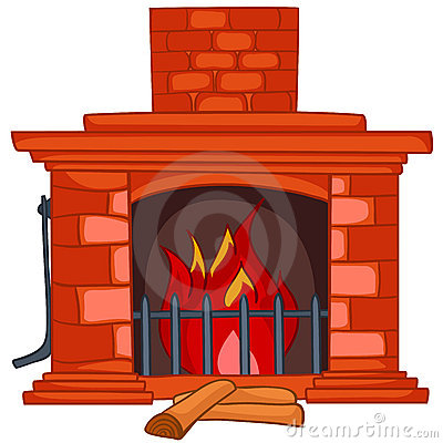 More similar stock images of ` Cartoon Home Fireplace `