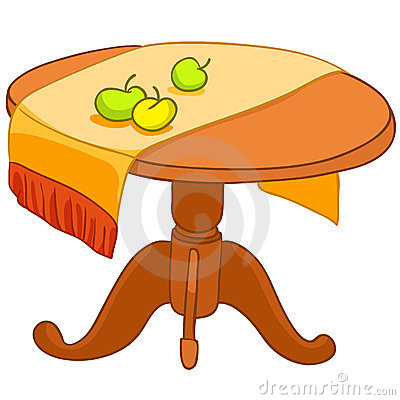 Cartoon Home Furniture Table Stock Photo Image 23829870