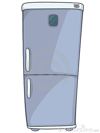 Cartoon Home Kitchen Refrigerator Royalty Free Stock
