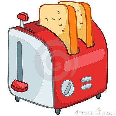 Cartoon Home Kitchen Toaster
