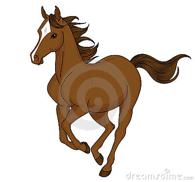 Free Cartoon Horse Running Stock Photography - 17745842
