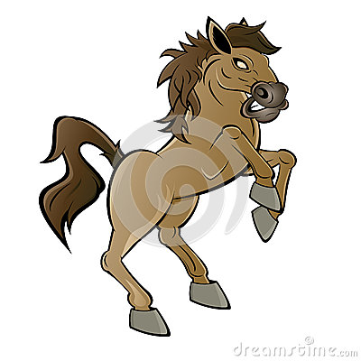 Cartoon horse or stallion