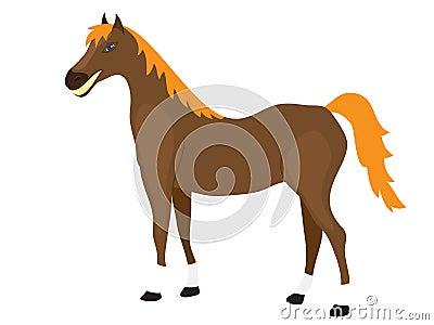 Cartoon Horse Stands