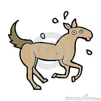 cartoon horse sweating
