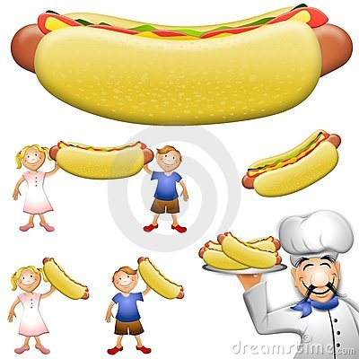 Free Cartoon Hotdog Clip Art Royalty Free Stock Photos - 5421208