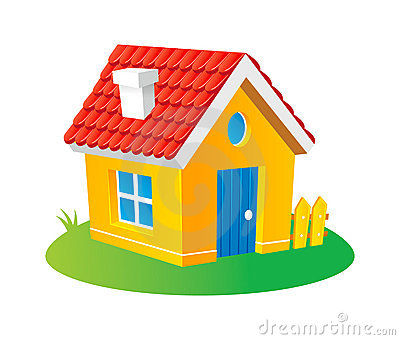 Cartoon House Stock Image - Image: 16120661