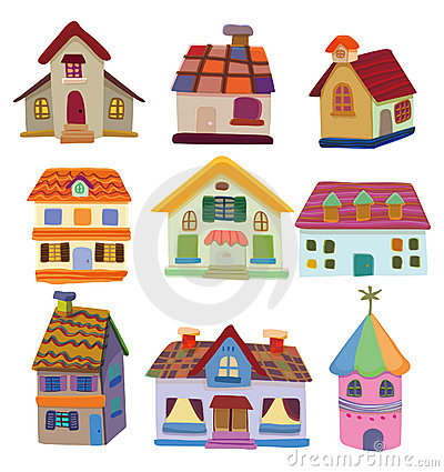 Free Cartoon House Icon Stock Images - 17635754