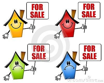Cartoon Houses For Sale Signs