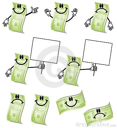Cartoon Hundred Dollar Bills
