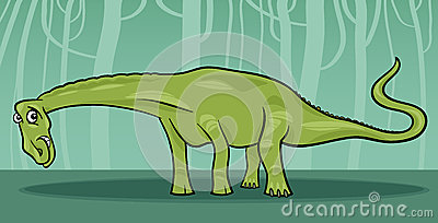 Cartoon illustration of diplodocus dinosaur