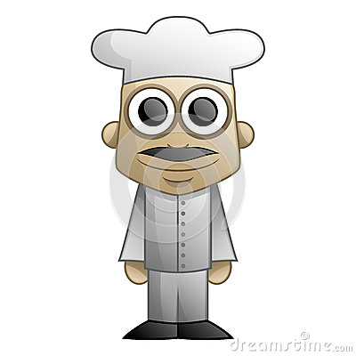 Cartoon illustration featuring a chef Cartoon Illustration