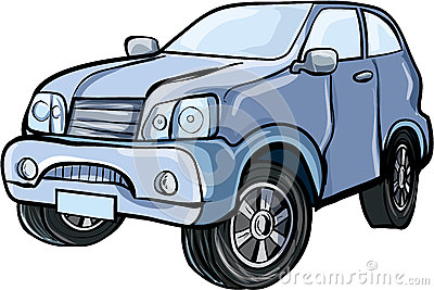 Cartoon illustration of a sport utility vehicle