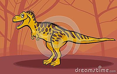 Cartoon illustration of tarbosaurus dinosaur