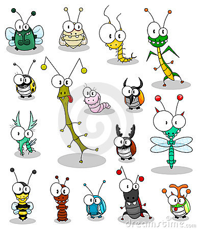 Free Cartoon Insects Royalty Free Stock Photo - 14506415