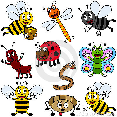 Free Cartoon Insects Collection Royalty Free Stock Photo - 9405575