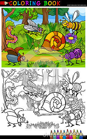 Free Cartoon Insects Or Bugs For Coloring Book Stock Photos - 29941813