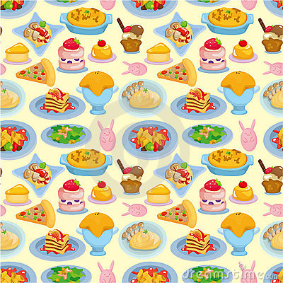 Cartoon Italian food seamless pattern