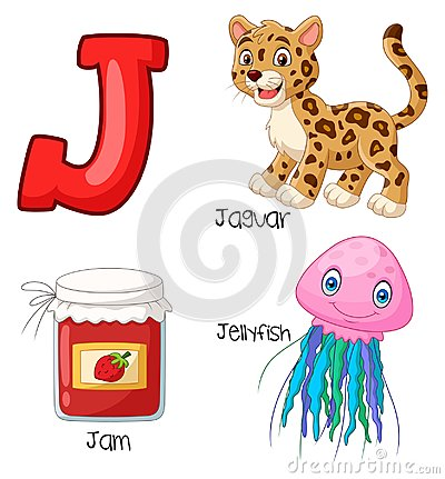 Free Cartoon J Alphabet Stock Photo - 123696880