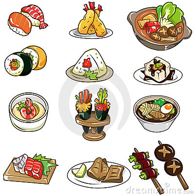 Free Cartoon Japanese Food Icon Royalty Free Stock Photos - 18248308