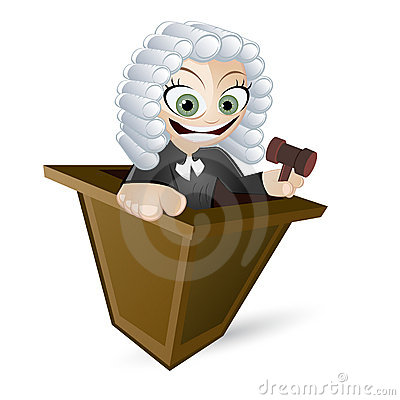 Cartoon Judge with Wig