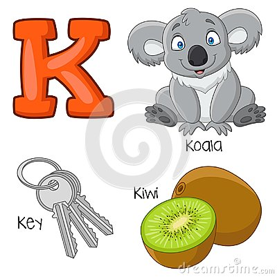 Free Cartoon K Alphabet Stock Images - 123696884