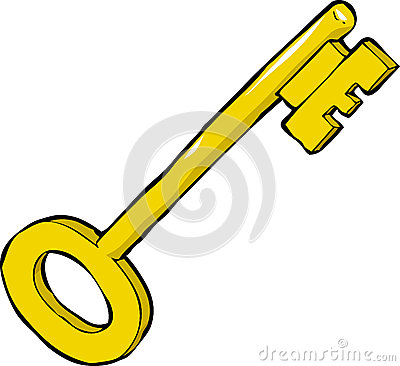 Cartoon key
