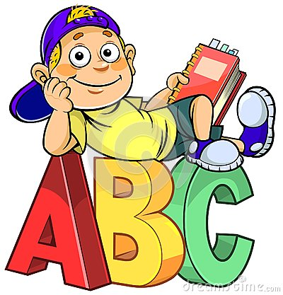 Stock Illustration Cartoon Kid Abc Boy Holding Book Sitting Alphabet Letters Image61370915 on beluga whale cartoon
