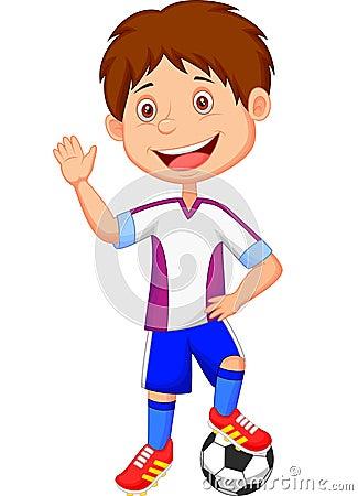 cOMO SE CLASSIFICAR  APÓS APANHAR DO PÉSSIMO NACIONAL??  Cartoon-kid-playing-football-illustration-36398642