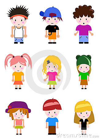 Cartoon kid set
