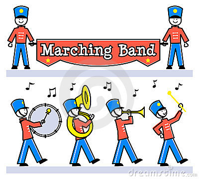 Cartoon Kids Marching Band/eps