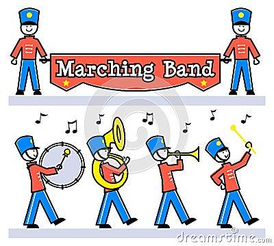 Cartoon Kids Marching Band/eps
