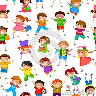 Free Cartoon Kids Pattern Stock Image - 32460111